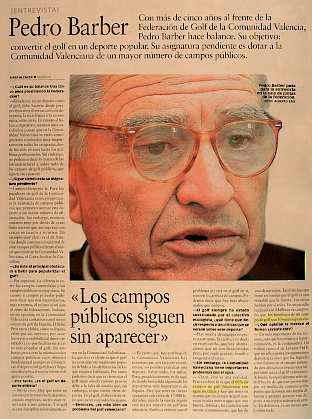 Presidente de la Federación de Golf de la Comunidad Valenciana Pedro Barber Lloret Un ignorante que - pedro_barber_golf_x12
