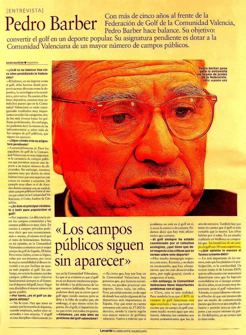 Presidente de la Federación de Golf de la Comunidad Valenciana Pedro Barber Lloret Un ignorante que - pedro_barber_golf_x31